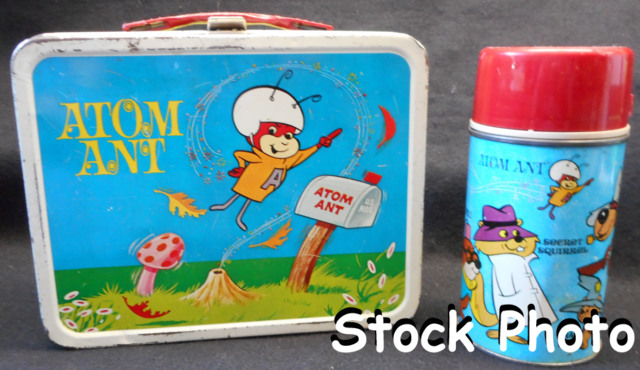 Atom Ant Lunch Box w/ Thermos © 1966, Aladdin