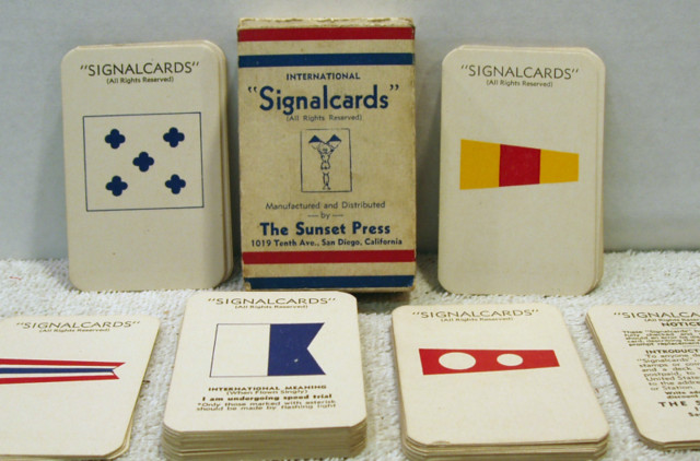 International Navel Signal Cards © 1940s
