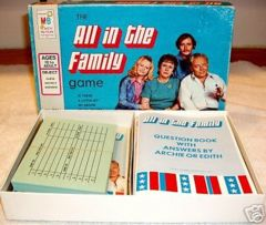 ALL IN THE FAMILY Game © 1972 Milton Bradley #4206