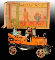 AMOS 'N' ANDY FRESH AIR TAXI, w/ BOX © 1930s Marx