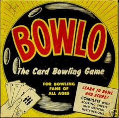 Bowlo The Bowling Card Game © 1957