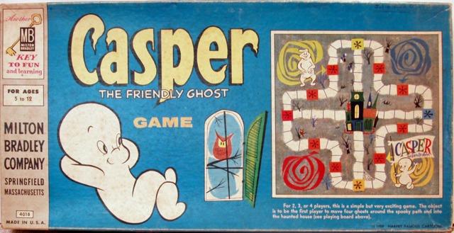 Casper the Friendly Ghost Game © 1959 Milton Bradley 4018 - Games