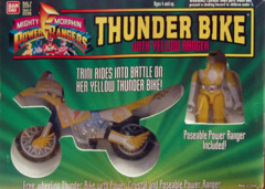 Mighty Morphin Power Rangers Thunder Bike w/ Yellow Ranger © 1994 Bandi 2236