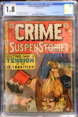 CRIME SUSPENSTORIES #22 © May 1954, EC Comics CGC 1.8