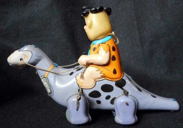 Flintstone Pals Fred Riding Dino © 1962 Marx Linemar