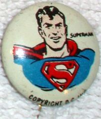 SUPERMAN © 1940s Kellogg's PEP Pin