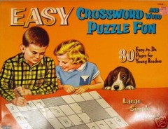 EASY CROSSWORD and PUZZLE FUN © 1962 Whitman #1680