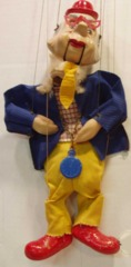 Howdy Doody, Mayor Phineas T. Bluster Marionette  © 1950s Peter Puppet w/ Box