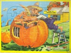 PETER, PETER PUMPKIN EATER © 1950s Jaymar Tray Puzzle