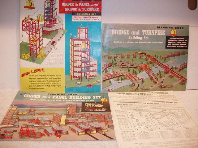 Girder & Panel, Bridge & Turnpike Building Set No8 © 1960 Kenner