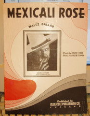 Mexicali Rose by Jack Tenney © 1951 Photo Cover Xavier Cugat