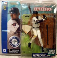 ICHIRO Seattle Mariners Rookie Outfielder Action Figure © 2002 McFarlane