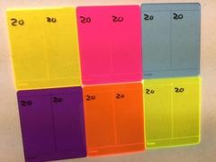 Orange Dry Erase Scorepad - Blank