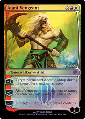Ajani Vengeant Shards of Alara Foil PreRelease Promo *Played to HP Condition*