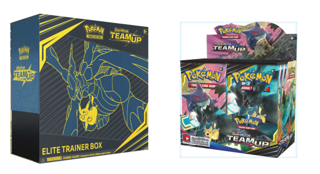 Pokemon Team up booster box + Elite Trainer box