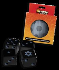 Legion - Iconic Dice D6 Tin: Gear (9)