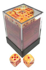 36 12mm Festive Sunburst w/Red D6 Dice - CHX27853