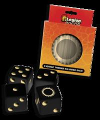 Legion - Iconic Dice D6 Tin: Sun (9)