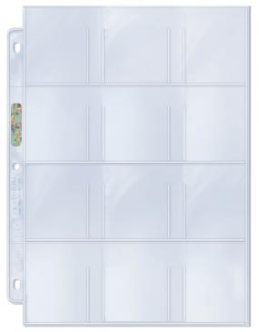 12-Pocket Platinum Page with 2-1/4 X 2-1/2 Pockets 100ct