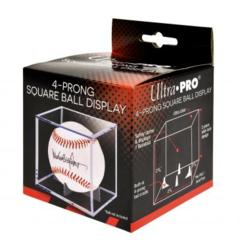 Baseball Clear Square Holder (4-Prong)