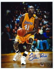 Glen Rice Signed 8x10