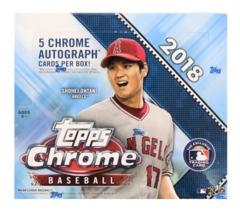 2018 Topps Chrome Baseball Jumbo Box