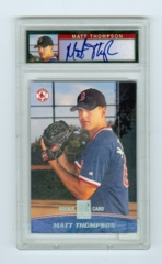 2001 Topps Reserve Rookie Autographs #134 Matt Thompson #0032/1500 PSA 8