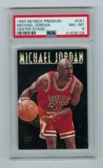 1993-94 SkyBox Premium Center Stage #CS1 Michael Jordan PSA 8