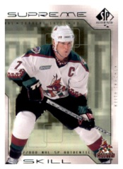 1999-00 SP Authentic Supreme Skill #SS10 Keith Tkachuk