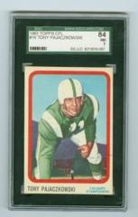 1963 Topps CFL #16 Tony Pajaczkowski SGC 84