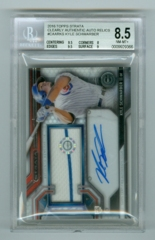 2016 Topps Strata Clearly Authentic Autograph Relics #CAARKS Kyle Schwarber BGS 8.5/10