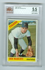 1966 Topps #495 Dick McAuliffe BVG 5.5