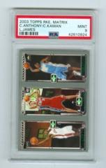 2003-04 Topps Rookie Matrix #JKA LeBron James /Chris Kaman /Carmelo Anthony (Rookie) PSA 9