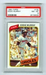 1980 Topps #160 Eddie Murray PSA 8