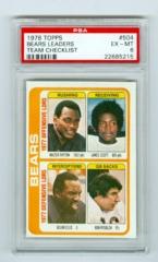 1978 Topps #504 Chicago Bears Leaders Team Checklist PSA 6