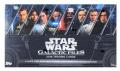 2018 Topps Star Wars Galactic Files Hobby Box