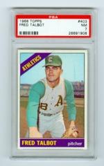 1966 Topps #403 Fred Talbot PSA 7