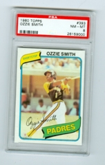 1980 Topps #393 Ozzie Smith PSA 8
