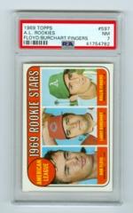 1969 Topps #597 Rookie Stars- Bob Floyd/Larry Burchart/Rollie Fingers (Rookie) PSA 7