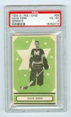 1933-34 O-Pee-Chee V304B #59 Dave Kerr (Rookie) PSA 4