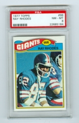 1977 Topps #098 Ray Rhodes (Rookie) PSA 8