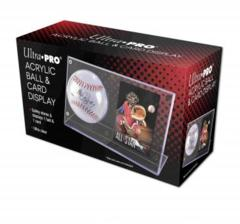 Acrylic Baseball & Card Holder