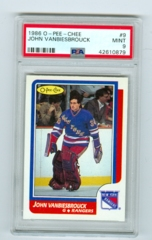 1986-87 O-Pee-Chee #9 John Vanbiesbrouck (Rookie) PSA 9