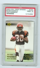 2000 Collector's Edge Graded #158 Peter Warrick High Numbers PSA 9