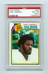 1979 Topps #390 Earl Campbell (Rookie) PSA 8OC