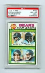 1979 Topps #132 Chicago Bears Team Leaders PSA 8OC