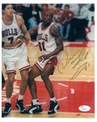 Dennis Rodman Signed 8x10- (JSA Cert)