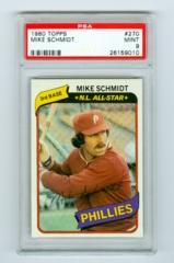 1980 Topps #270 Mike Schmidt PSA 9