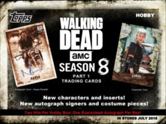 2018 Topps The Walking Dead Season 8 Part 1 Trading Cards Hobby Box