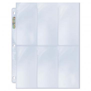 6-Pocket Platinum Page with 2-1/2 X 5-1/4 Pockets 100ct